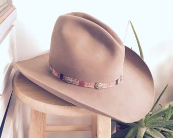 Stetson Western Hat // Tan // Size 7 3/8