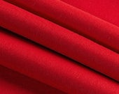 "CLEARANCE! Red Wool Craft Felt by the Yard - 100% Wool, 1.2mm Thick, 63"" Wide, Limited Stock Available"