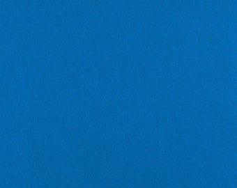 "Blue Solid Tone Designer Wool Felt by the Foot - 100% Wool, 70.9"" Wide, 2mm, 3mm and 5mm Thicknesses Available, Buy More Save More"