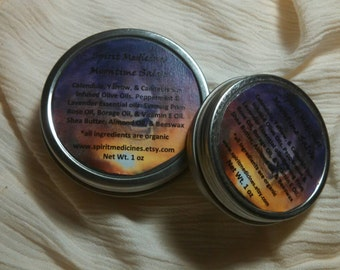 Moontime Salve - Spirit Medicines - 1 oz or 2 oz Tin.  Organic Herbal Remedy, Salves & Balms, Skin care, Bath and Beauty, Aromatherapy