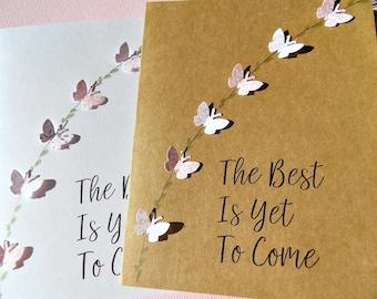 Wedding Card, Bridal Shower Card, Baby Shower Card,Birthday Card, Same Sex Card, Butterfly Card, biytc