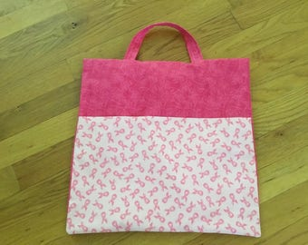 Breast Cancer Pink Ribbon Take and Go Pillow