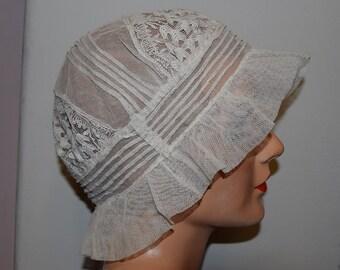 Edwardian Lace Boudoir Cap