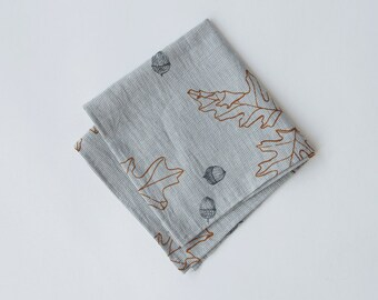 Organic Cotton Handkerchief - Oak