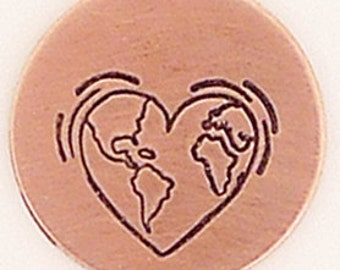 6mm Heart Earth Metal Design Stamp - Metal Jewelry Stamping Tool The Urban Beader