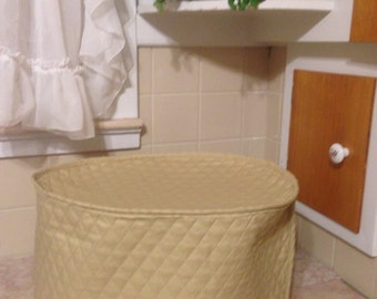 Tan Oval Crock Pot Cover with Trim Ready To Ship