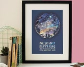 Family Of Wolves Star Map Print - New Baby Gift - Mother's Day Gift - Constellation Print - Star Chart - Woodland Animals - Nursery Print