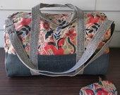 Custom Adventurer bag in Rifle Paper Co. Alice in Wonderland Print