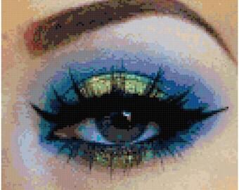 Seahawks Eye Original Cross Stitch Pattern