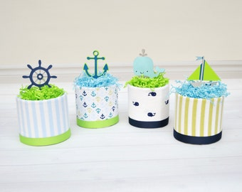Great Nautical Baby Shower, Whale Baby Shower Centerpieces, Nautical Diaper Cake  Decorations, Whale Diaper