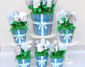 Baby Shower Decorations, Baby Shower Package, Baby Boy Shower Centerpieces, Baby Shower Flower Centerpieces, Unique Shower Decorations Boy