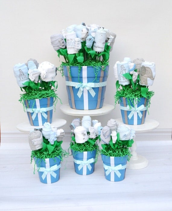 Baby shower decorations baby shower package baby boy shower for Baby shower flower decoration ideas