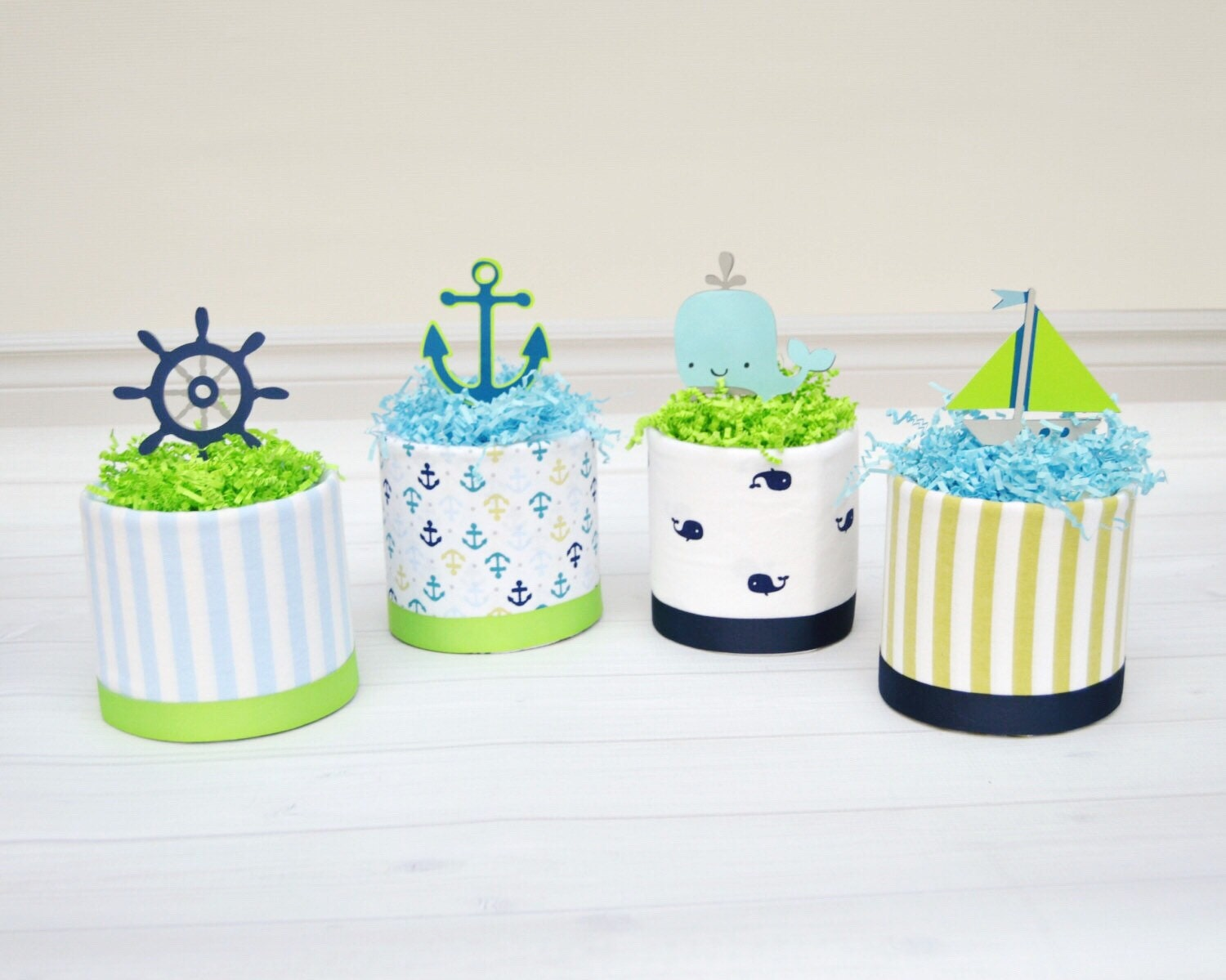 Nautical Baby Shower, Whale Baby Shower Centerpieces, Nautical Diaper Cake  Decorations, Whale Diaper Cakes, Nautical Table Decor
