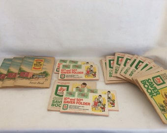 Vintage S&H Green Stamp and Top Value Stamp Books