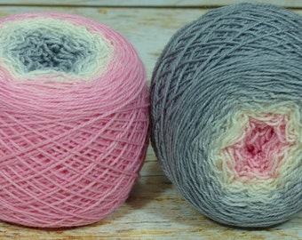 "Full "" Clara's Dream "" -Lleap Handpainted Gradient Sock Yarn"