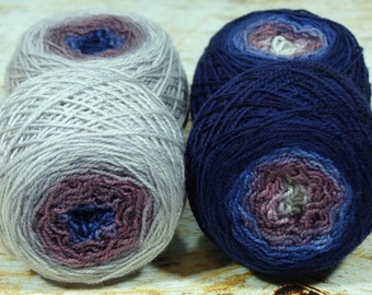 "Sock Twins "" Dusk "" -Lleap Handpainted Gradient Sock Yarn"