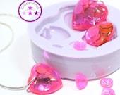 SALE 15% Variety Heart Jewel Pendant Mold