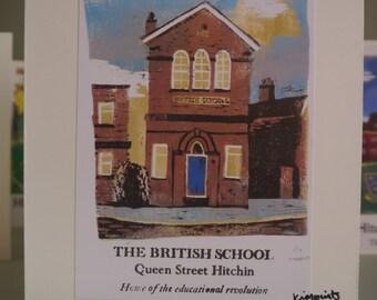 Hitchin Prints Card: British School