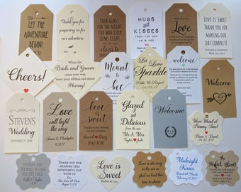 Custom Favor Tags, Favor Tags, Customize Tags, Wedding Baby Bridal Shower Gift Tags, I Do Wedding Engagement Party, Birthday Party Tag Ideas