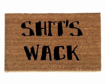 Shit's Wack- resist doormat - protest welcome door mat