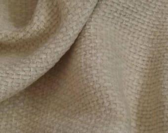 Cream Furnishing Fabric, Chenille Weave Pattern Fabric