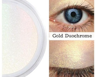 Gold Duochrome, Gold Rainbow, Highlighter, Eyeshadow, Eyes Lips Face, Iridescent Gold, Color Shift, Splendid, Gold Interference