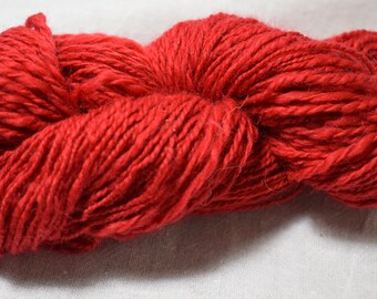 Red Handspun Yarn