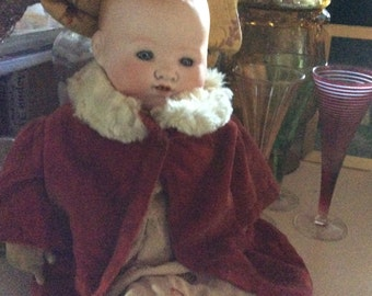 Antique German Doll Hallmarked AM Germany era 1900 in original clothing Fathers  Day special