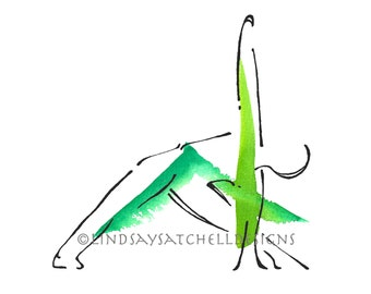 Triangle Pose - Yoga Art Print | Yoga Gifts, Yoga Studio Decor, Yoga Inspiration, Inspiration Gifts, Gift, Inspiration Art