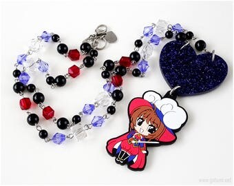 Cardcaptor Sakura Y Necklace, Anime Necklace, Anime Jewelry, Magical Girl, Kawaii