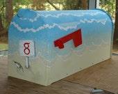 Beach Mailbox, Personalized Mailbox, beach decor, Wave Mailbox, Housewarming Gift