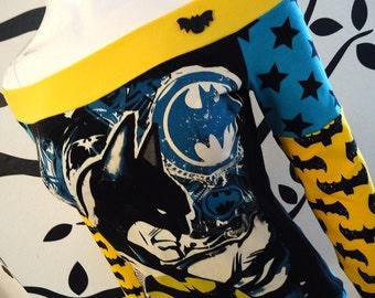 Batman • Off Shoulder Top • Black and Yellow • Small / Medium