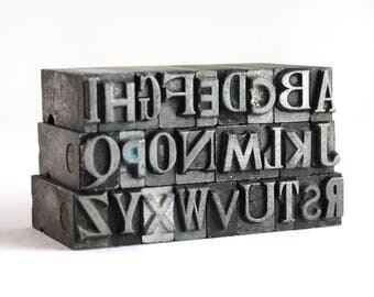 THE ALPHABET - 24pt Metal Letterpress (MM1)