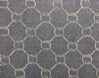 Nautical Rope Cotton Fabric, Quilting Fabric, Nautical Knots, Nautical Nursery Fabric, Anchor Fabric, Children's Apparel Fabric, Beach
