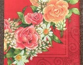 PN-178. Pflower wreath Price is for one napkin Unusual Paper Napkins Collectibles Scrapbooking Napkins for decoupage