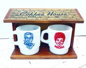 Vintage Mom & Dad's Coffee House with Mugs (RESERVED FOR TAK)