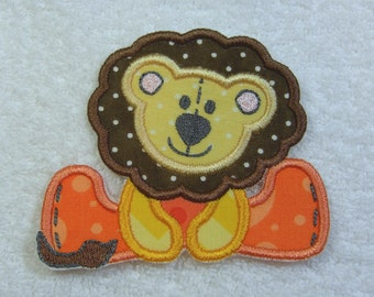 Stuffed Lion Fabric Embroidered Iron on Applique Patch Ready to Ship
