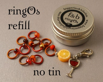 ringOs REFILL -  Mulled Wine - Snag-Free Ring Stitch Markers for Knitting