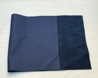 Leather remnant in Blue