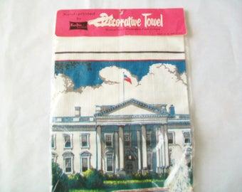 1970 White House Towel,  UNUSED, towel, souvenir, Kay Dee, original package