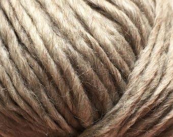 Peru Alpaca Bulky Yarn - Beige Heather #47680 Ice 50g Merino Wool Alpaca Acrylic
