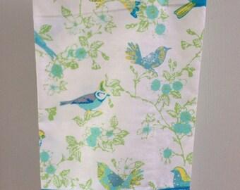 Teal and Grey Bird Tea Towels