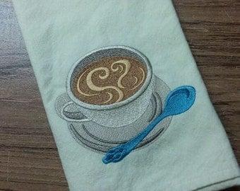 Love My Coffee Cotton Kitchen Tea Towel