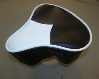 Bicycle Seat Upholstery Black And White