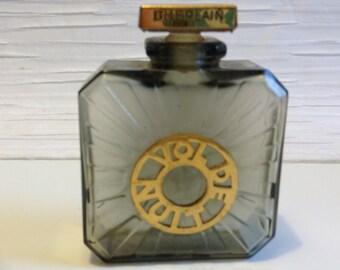 Vintage rare parfum perfume Guerlain VOL DE NUIT empty glass bottle.  Rare Vintage.