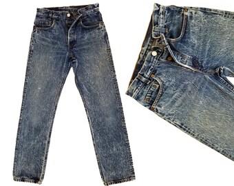 70s Vintage Denim Levis 501s High Waist Jeans Distressed Acid Wash Levi 501 Button Fly Boyfriend Jeans Levi 501s Vintage Levis 26 Waist XS