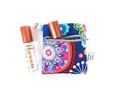 Mini Essential Oil Bag - Tribeca - roller bottle case travel case essential oil storage IEM case, earbud holder, rollerball