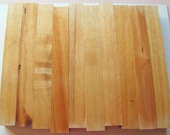 "10 Australian Blackwood Turning Squares, 1.5"" by 12"" long"