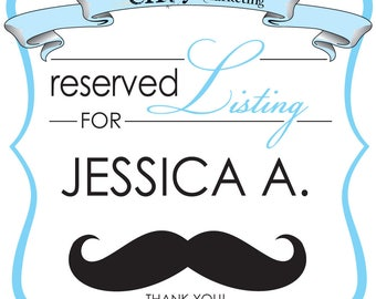 Mustache Bash Pop Out Baby Shower Invitation Sets... Reserved for Jessica A.