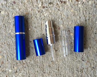 Decanting perfume supply, Perfume Refillable Fragrance Travel Sprayer - metal case atomizer, glass bottle, fine mist sprayers